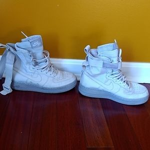Nike air Force one's. High top, gray, size 6.5.